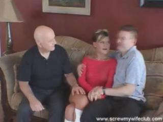 Husband watches as his young wife sucks and fucks