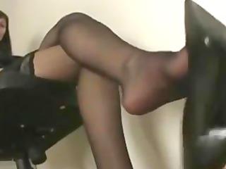 Shoe/Leg/Feet Tease In Beautiful Nylon Stockings