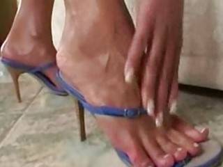 Cute MILF Foot Solo