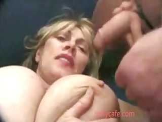 Mature Woman Gets Big tits Mature Old young