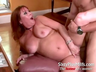 Pretty hot MILF does muscle guy
