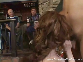 Redhead Wife Gets Screwed, Hubby Approves!