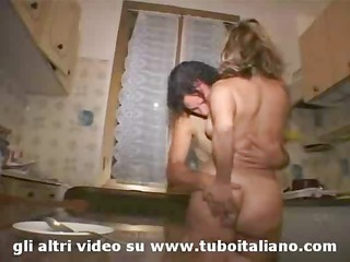 Blonde Italian Amateur Milf Threesome