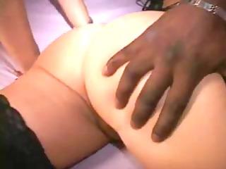 Phat booty MILFs get Black cum at swinger orgy