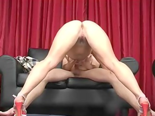 Golden-Haired Russian Older Pro Oral Sex