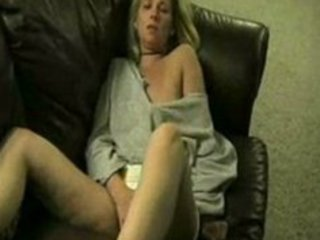 Drunk Wife Masturbate And Squirting On Couch