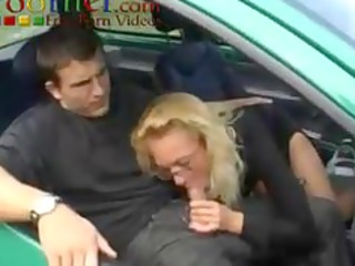 Driving School Lesson French MILF