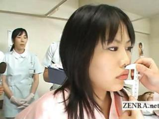 Japan milf doctor uses dildo with camera for oral