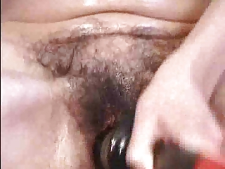 Mature Whore Dildo and Hairy Pussy by TROC