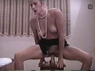 Mature rides dildo attach to chair