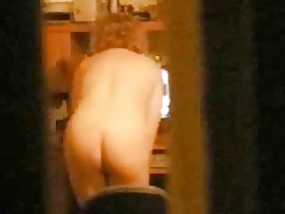 My busty mom home alone caught showing on web cam