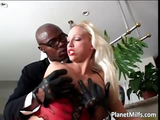 Horny blond pussy pierced MILF sucking part2