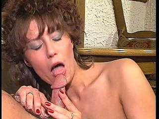 Milf slut sucks and fucks outdoors