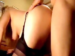 Mature candy in glasses gets fucked doggy-style