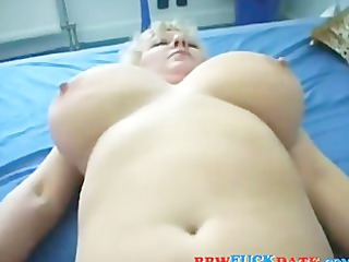 Chubby older madam hungry form some fresh cock
