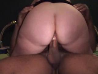 Chubby mature brunette wife gives a handjob and