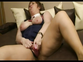BBW mature slag sucking a lolly