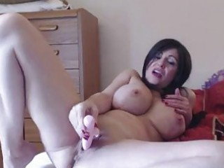 Milf has a leg quivering orgasm