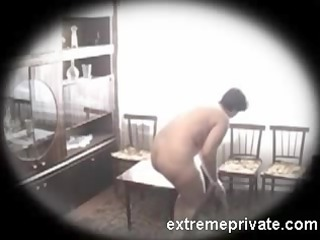 Spying home Nudism my 48 years busty Mom