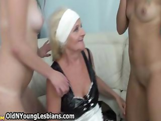Horny blonde mature wife gets fucked