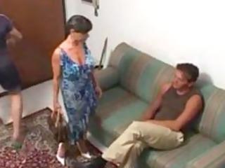 Italian busty MILF Sonia Eyes in a threesome