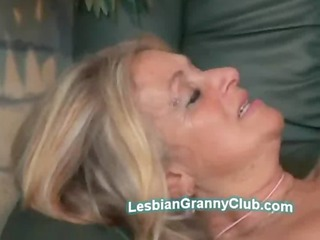 Hot redhead jaguar and blonde chubby granny share