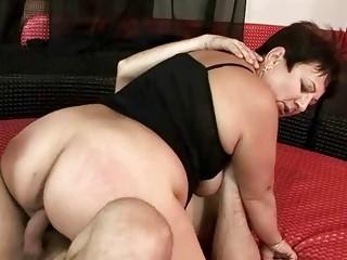Fat grandma getting fucked hard