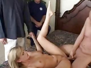 Skinny hot wife fucked by stranger