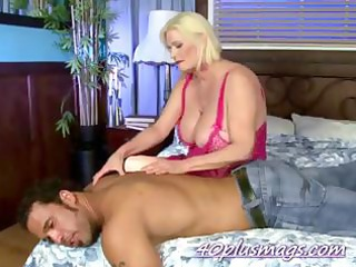 Mother hired a stud to play with
