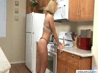 Milf skillfully blows a dildo before fucking it