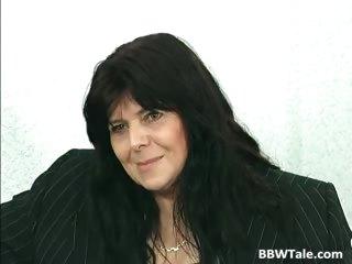 Black hair mature BBW slut gets her part2