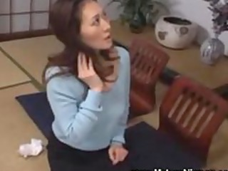Asian MILF got caught masturbating