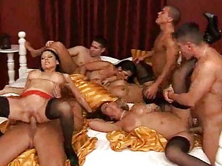 Busty Group Sex MILF Tramps