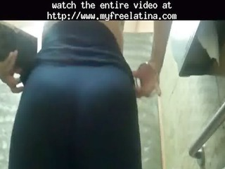 Mexican-milf-juicey Ass Flashing At A Fastfood
