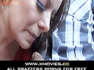 Hot Latin Milf sucking in a car -
