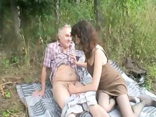 Outdoor Mature Couple Sex