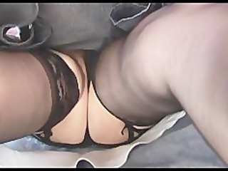Busty hairy mature upskirt striptease