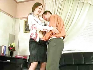 Horny Mature Lady have sex in office