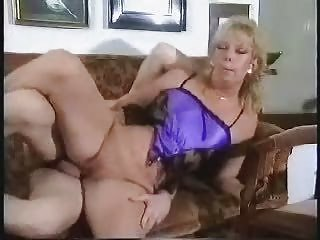Pierced Shaved Mature Fucked On Couch With Facial