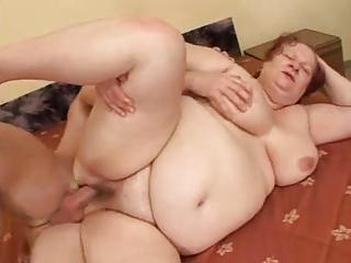 bbw grannie fucks with young
