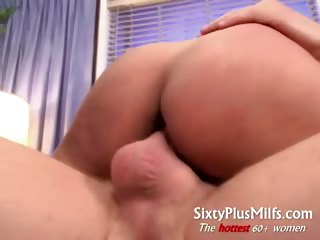 Nasty horny mature with long hair
