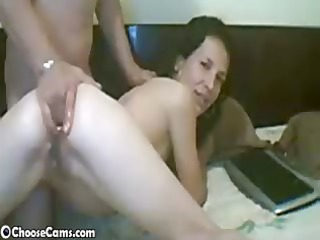 Webcam Wife Gets Ass Fisted