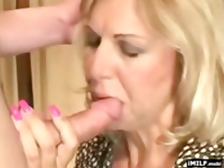 Pretty Blonde MILF Fucked by a Younger Stud