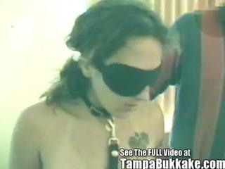 Sex Slave Blindfolded &_ Tampa Bukkake Gang