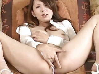 asian milf masturbating and blowing a dick