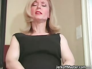 Slutty blond mum with big hooters part4