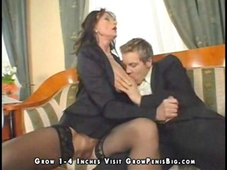 Horny mature in black stockings craves dick