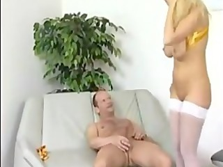 Blonde mom fucks like a slut in heat