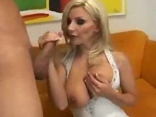Neighbour hot milf mature woman with a young boy