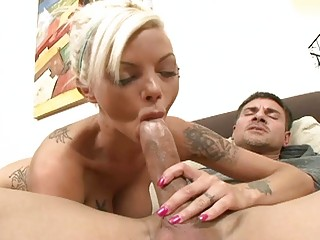Foxy big breasted wife gets nailed by massive fat